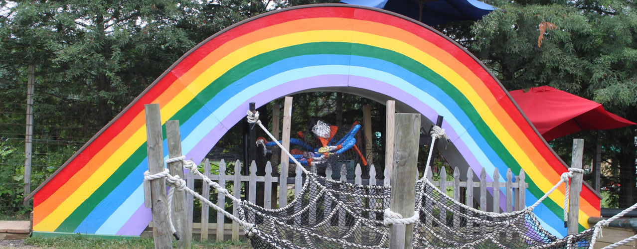 Rainbow slide, new at the farm in 2015