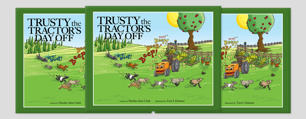 Trusty the Tractor books at Clarks Farm
